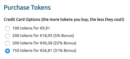 Chaturbate Token Pricing